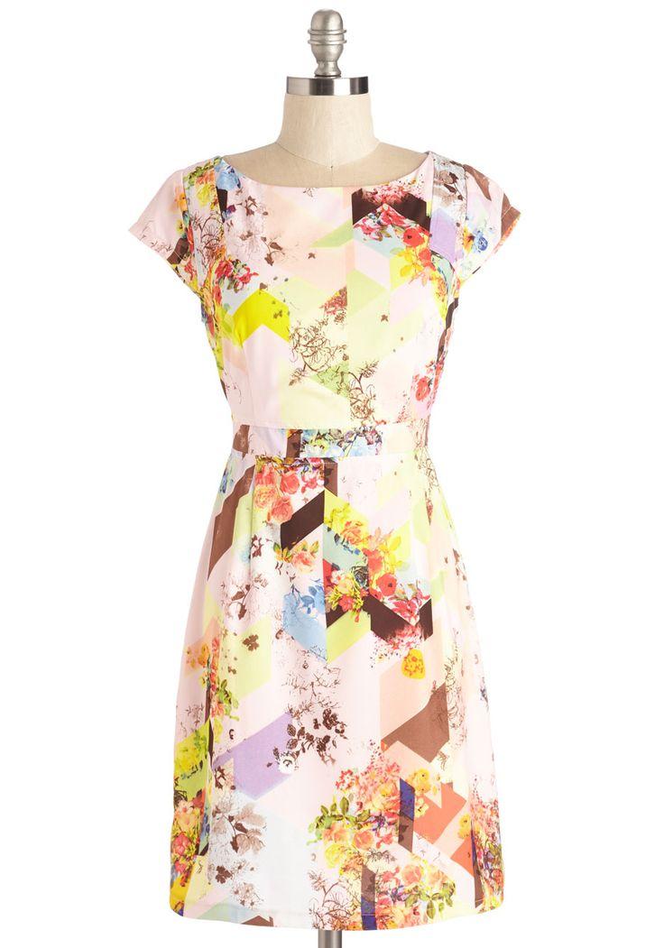 Decou-Posh Dress, #ModCloth