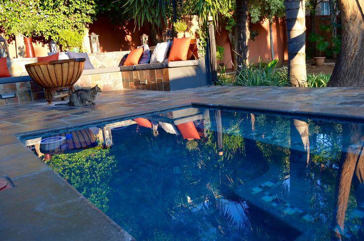 Heated spa pool