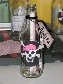 Einladung Pirat, Kindergeburtstag, Piratenparty, Mottoparty selbstgemacht Pink Pirate Party Invitation DIY