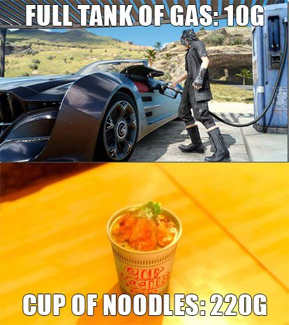 Final Fantasy 15 Pricing | Gas better be cheap when an 8 minute trip drains the tank
