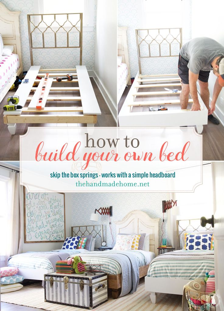 Designing Your Own Bedroom How To Build Your Own Bed Skip The Boxsprings  The Handmade