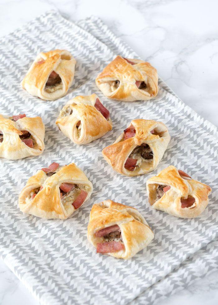 Champignon bladerdeeg hapjes - Laura's Bakery