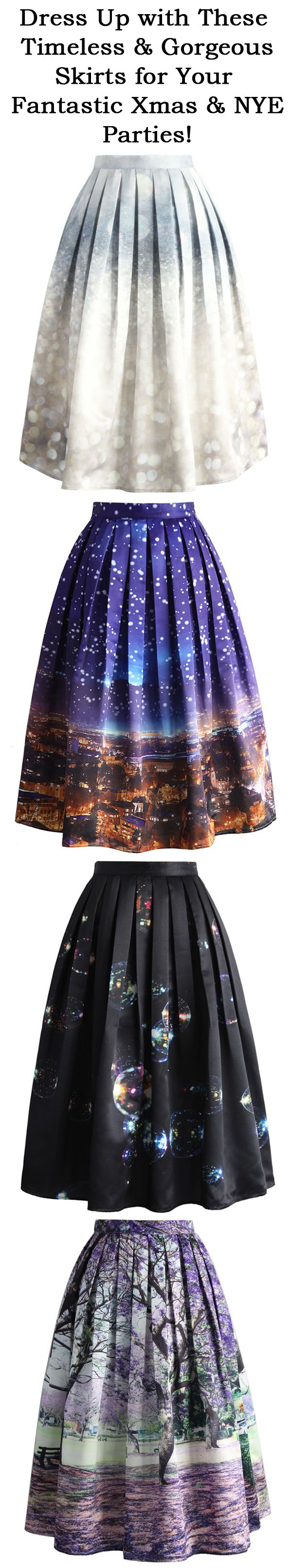 dress up with these timeless and gorgeous skirts for your fantastic Xmas and NYE parties.