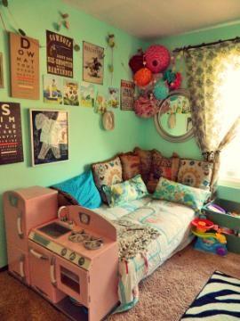 diy eclectic girl room.