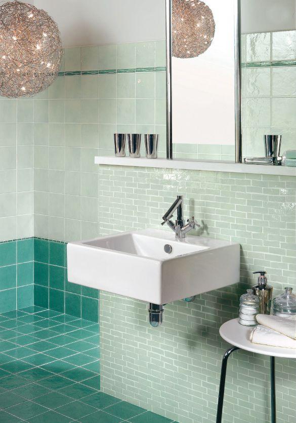 Accessori Bagno Verde Acqua.Bellezza Bagno Parquet E Piastrelle Bagno Idee Bagno Verde Acqua