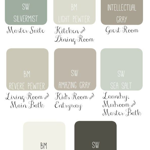 Whole House Paint Scheme Idea Soothing Amp Sophisticated