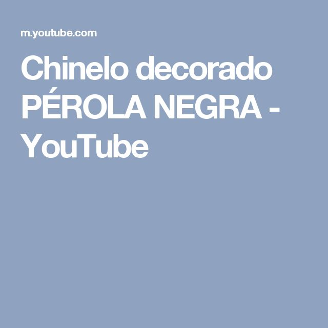 Chinelo decorado PÉROLA NEGRA - YouTube