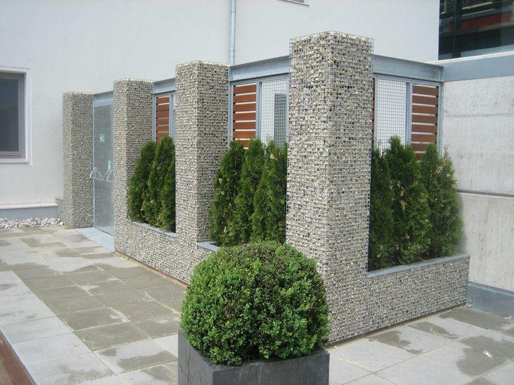 25 best compound walls images on pinterest gabion fence for Compound garden designs