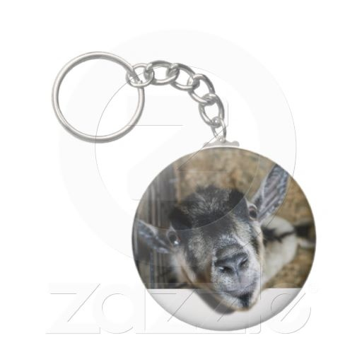 SOLD! Nosy Goat Looking Out Keychain by #PictureThisAndThat  shipping to Hastings, United Kingdom