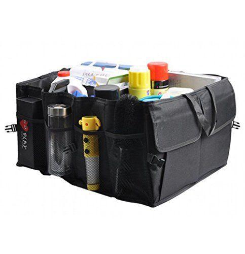 Richoose Car Trunk Organizer [Multipurpose Flat Trunk Folding Storage Organizer] Tissu Oxford Storage Organizer BagAuto SUV voiture et…