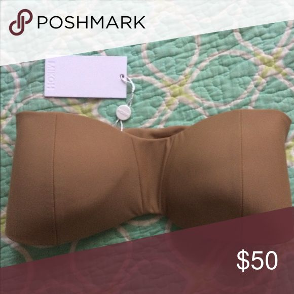 Mikoh  Bandeau Bikini Top Size Small with Tags Mikoh beige top, sz small. New with Tags. Size chart from Mikoh.com Mikoh Swim Bikinis