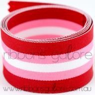 cinnamon sweetie striped grosgrain (38mm wide) [per metre] - $2.60 : Ribbons Galore, your online store for the best ribbons #ribbons #ribbonsgalore #stripedgrosgrain