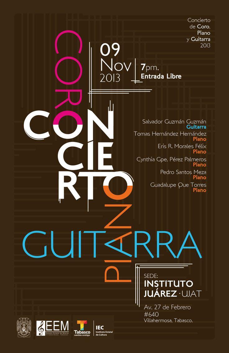 Cartel para Concierto de Egresados de la Escuela de Música