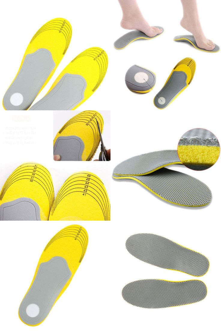 [Visit to Buy] 1 pair 3D premium women men feet care comfortable shoes orthotic insoles inserts high arch support pad #Advertisement