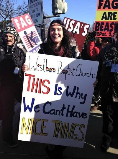 Anti-Westboro Baptist Church Protest Sign