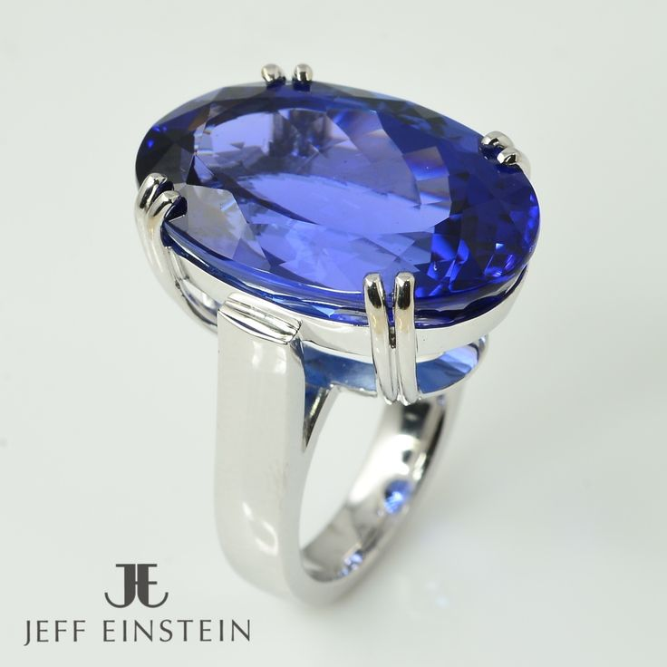 An exquisite 33.13carat oval Tanzanite set into a custom designed and crafted 18ct white gold setting made by our on-site jewellers. #jeffeinsteinjewellery #doublebay #sydney #jewellery #tanzanite #picoftheday #jewelry #whitegold #style #finejewelry