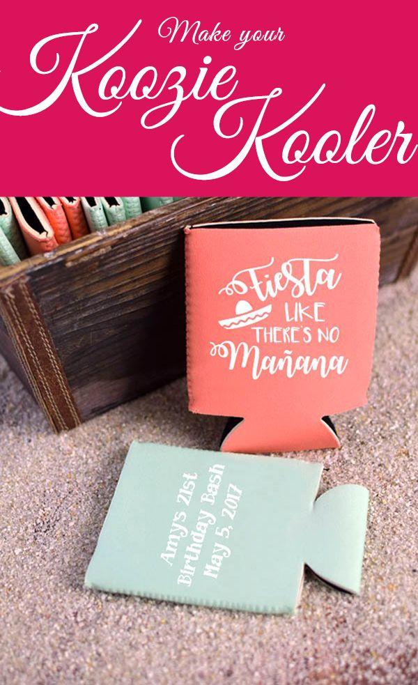 Design Your Own Custom Message Koozies