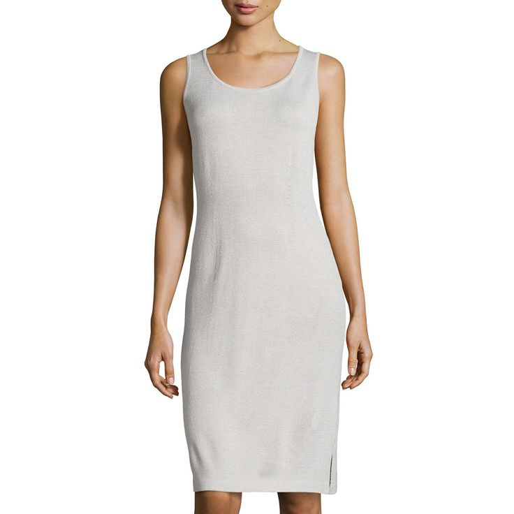 Scoop Neck Knit Tank Dress