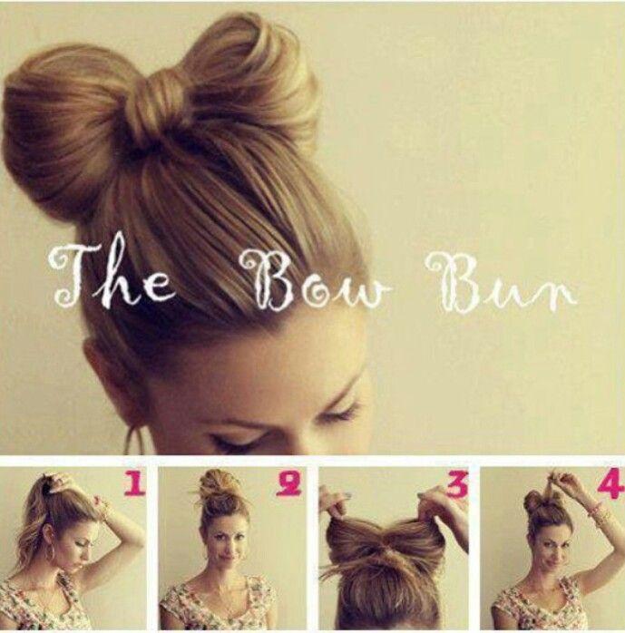 Pleasant Hair Diy Bow Bun Tutorial Crafthubs Hairstyle Inspiration Daily Dogsangcom