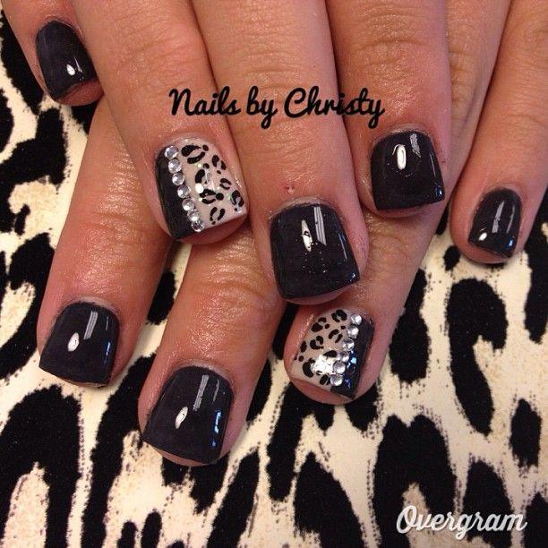 Fierce Cheetah Nails. love this especially since theyre so short! - Best 20+ Cheetah Nails Ideas On Pinterest Cheetah Nail Designs