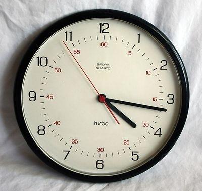 Vintage Bifora Wall Clock German Design Braun Dieter Rams