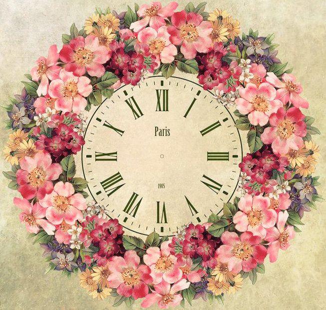 Схема вышивки «Цветочные часы» - Вышивка крестом