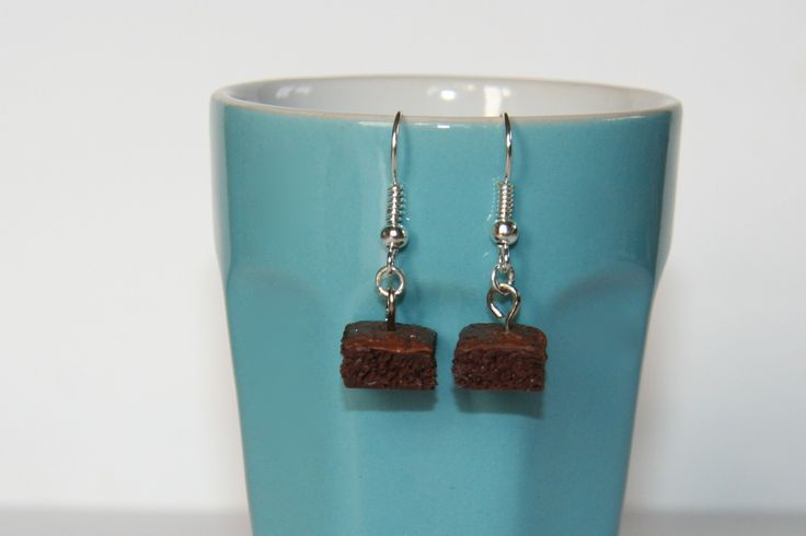 Boucles d'oreilles | Brownie | Fimo || Earrings | Brownie | Polymerclay