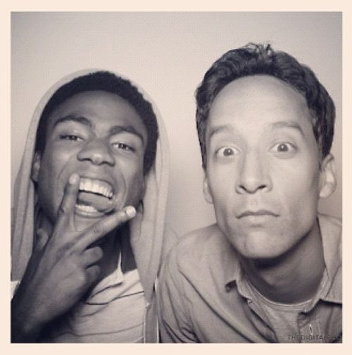Troy and Abed in the Moooorning! (Donald Glover and Danny Pudi, Community)