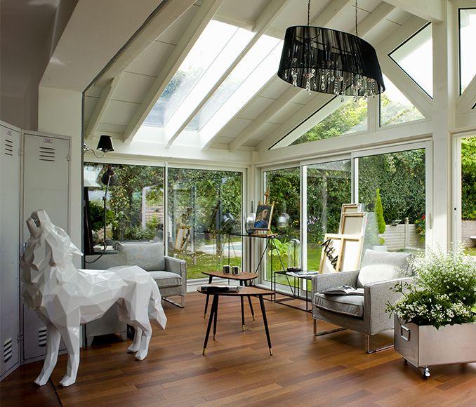 V randa bois s rie angela le loup blanc d 39 orlinski vie veranda merci orlinski pour son - Moderne entree veranda ...