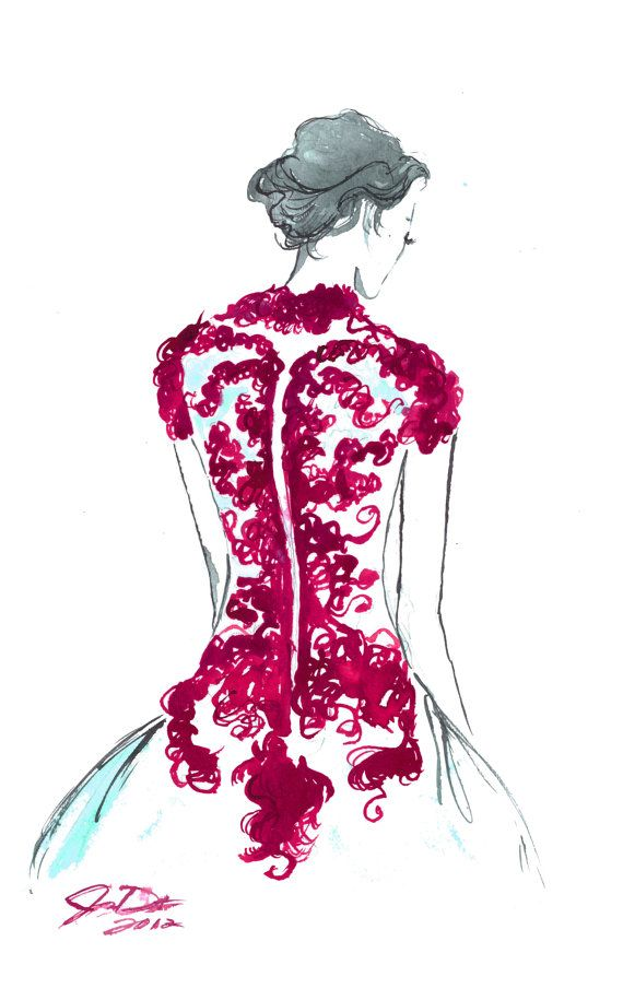 Backstage No. 2, by Jessica Durrant #watercolor #illustration