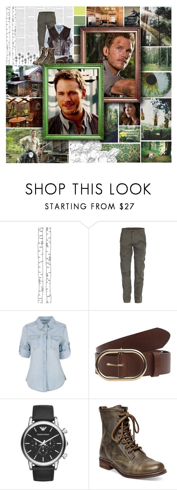 """""""☼0.99; Round 6. Ordinary Life From The Battle Of The Superheroes And Villains"""" by once-upon-a-peytenn ❤ liked on Polyvore featuring Hush, ferm LIVING, Harley-Davidson, Jeep, Frame Denim, Emporio Armani, Steve Madden, Emanuel Ungaro and BotSHaV106"""