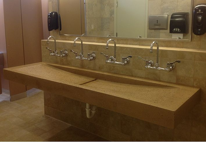 7 best our stunning commercial projects images on - Commercial bathroom sinks stainless steel ...