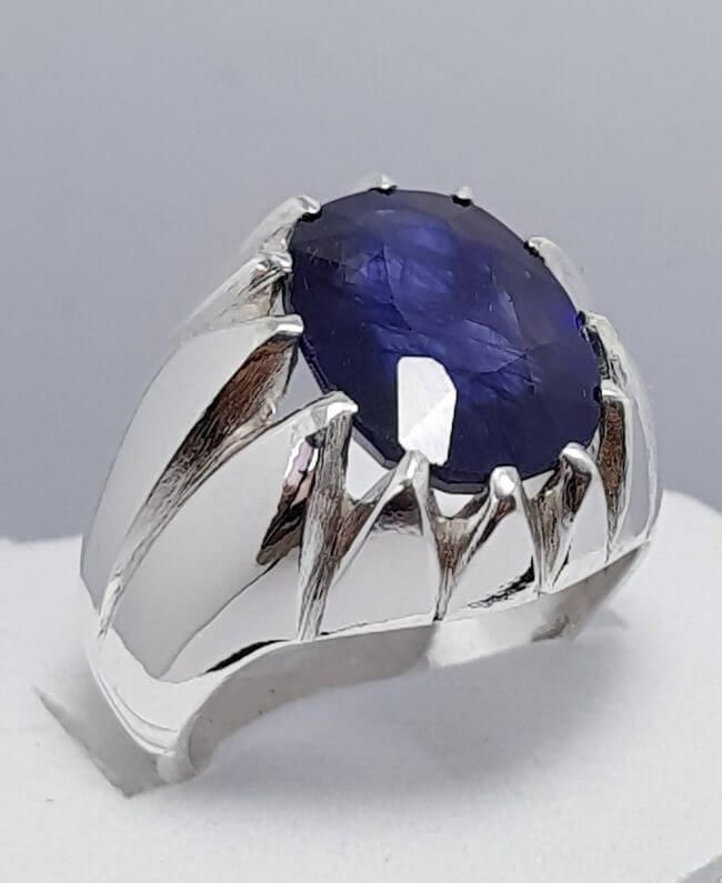 Blue Sapphire Engagement Rings With Pure White Gold Sapphire Engagement Ring Blue Blue Engagement Ring Mens Sapphire Ring