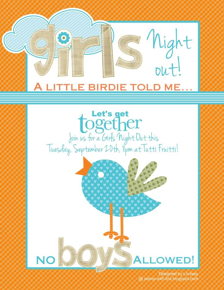 10 best Invitations for bdays and girls night images on Pinterest - invitation card for get together