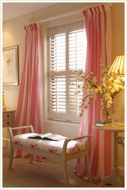 Plantation shutters with curtains southern living for Southern plantation shutters