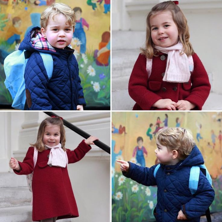 Prince George and Princess Charlotte on their first days at nursery school
