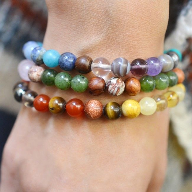 The Chakra Healing Bracelets were designed to help balance, align and cleanse your 7 chakras. These rainbow bracelets contain chakra cleansing stones associated with each of your chakras. #chakras
