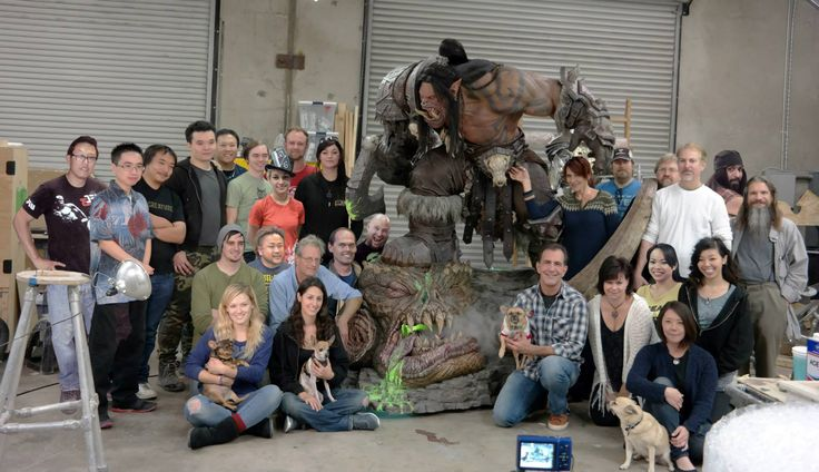 The team that Steve and Eddie assembled to build Grommash for Blizzard Entertainment.