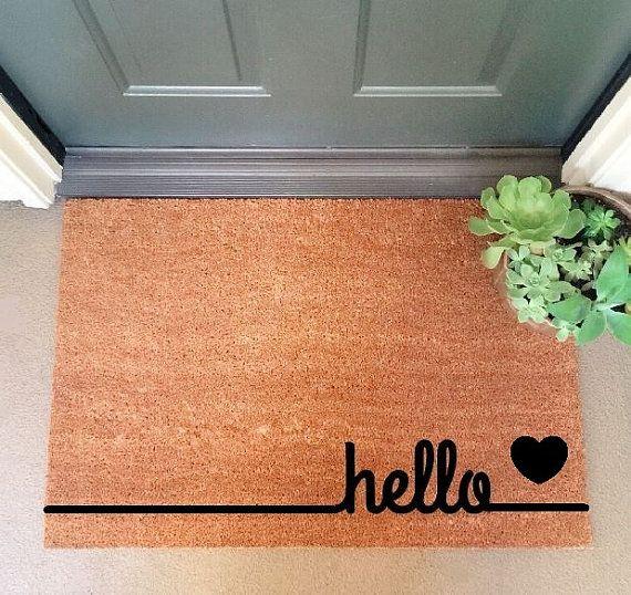 Hello Coir Doormat Coir Funny Doormat / by InspireLifeToday