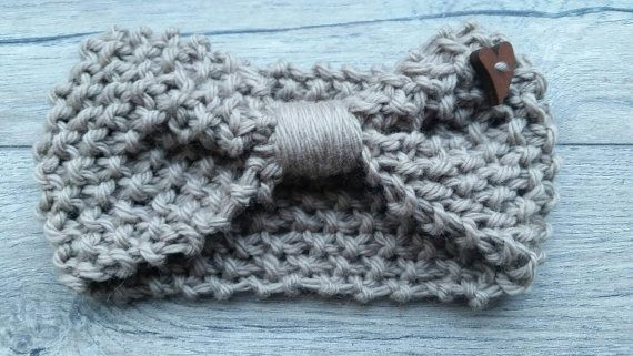 Check out this item in my Etsy shop https://www.etsy.com/ca/listing/489570908/tan-headband-knit-with-wool-neutral-knit