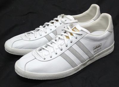 adidas gazelle og retro | Adidas Originals Gazelle OG White Leather Retro Trainers G63201 12 uk ...