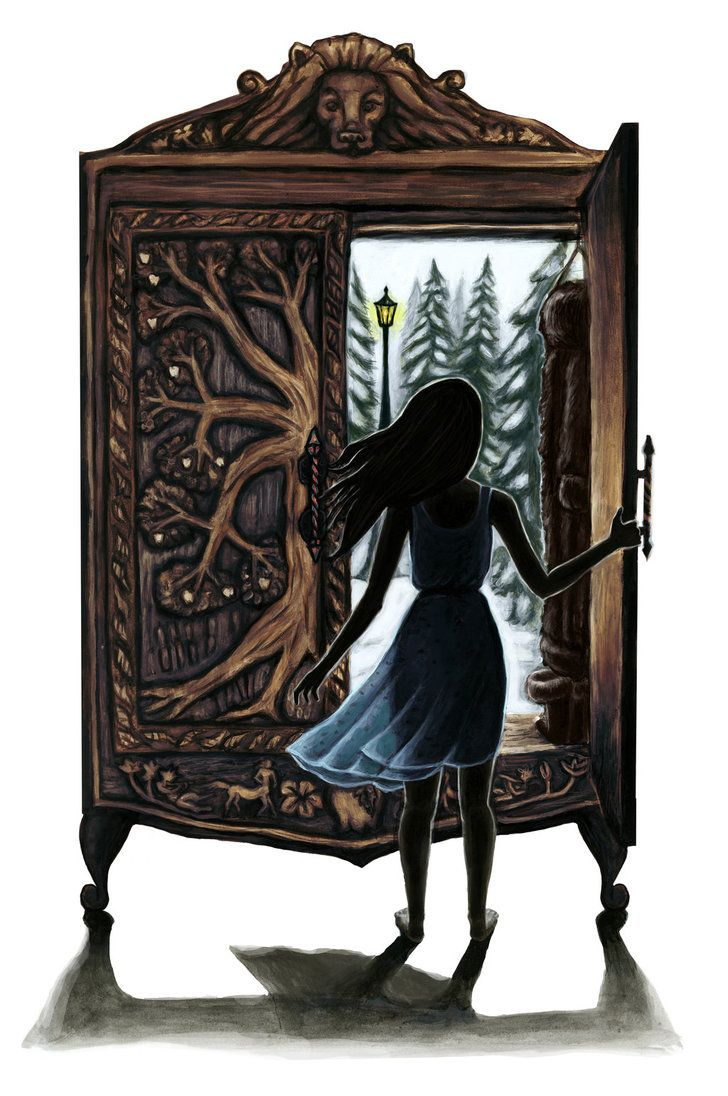 Narnia illustration, how I picture Lucy first opening the wardrobe!