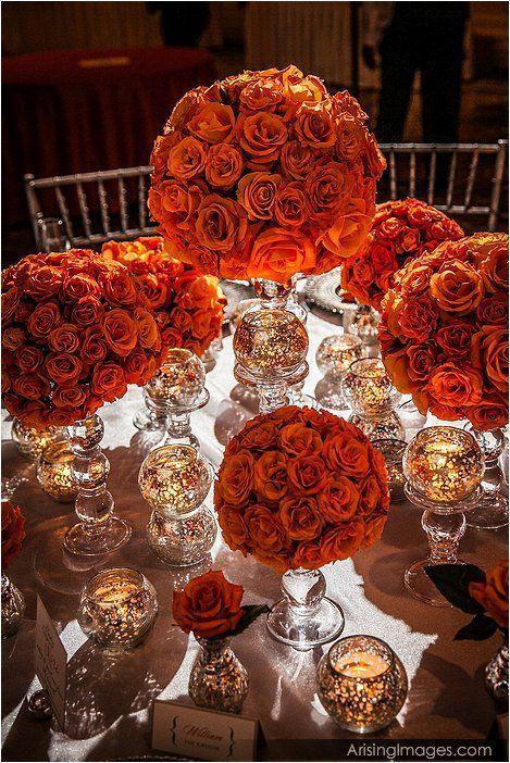 chocolate orange wedding centerpieces | Fall Wedding - Burnt Orange Centerpiece Ideas.... | Fall Wedding Ideas