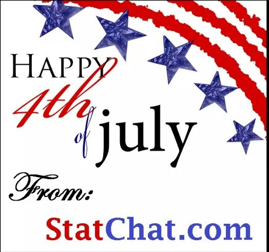 Have a safe and fun 4th of July.  #Happy4th  Fantasy Football leagues hosted on ESPN, YAHOO, CBS and other sites can earn a national ranking from www.StatChat.com.  Leagues win together and Earn together!  #fantasyfootball #braggingrights #getranked #statchat #cash #sports
