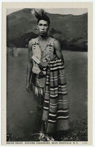 Indian brave, Eastern Cherokee, near Asheville, NC
