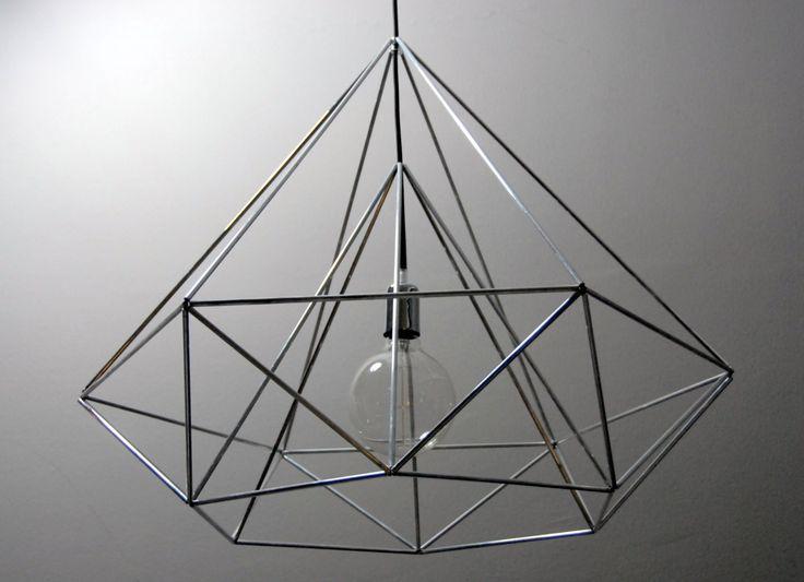 cage light himmeli light diamond pendant cage geometric silver - array1-f63707.jpg (1500×1088)