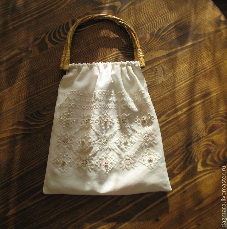 """Сумка """"Кружевное лето"""" - белый,летняя сумка,белая сумка,сумка из ткани"""