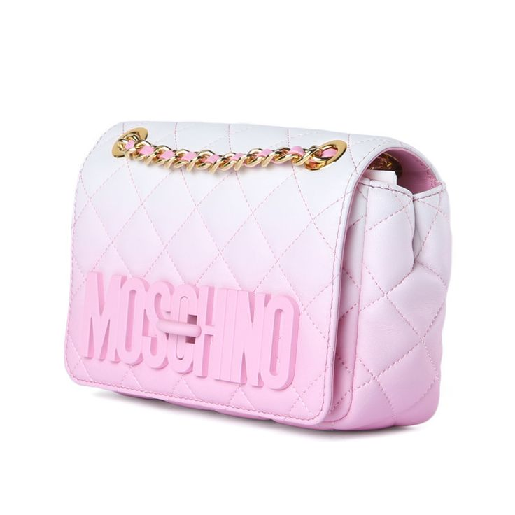 Moschino Pink Small Quilted Shoulder Bag / Shop Super Street - 3