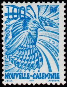 Stamp: Cagou (New Caledonia) (Bird) Mi:NC 1244,Yt:NC 850
