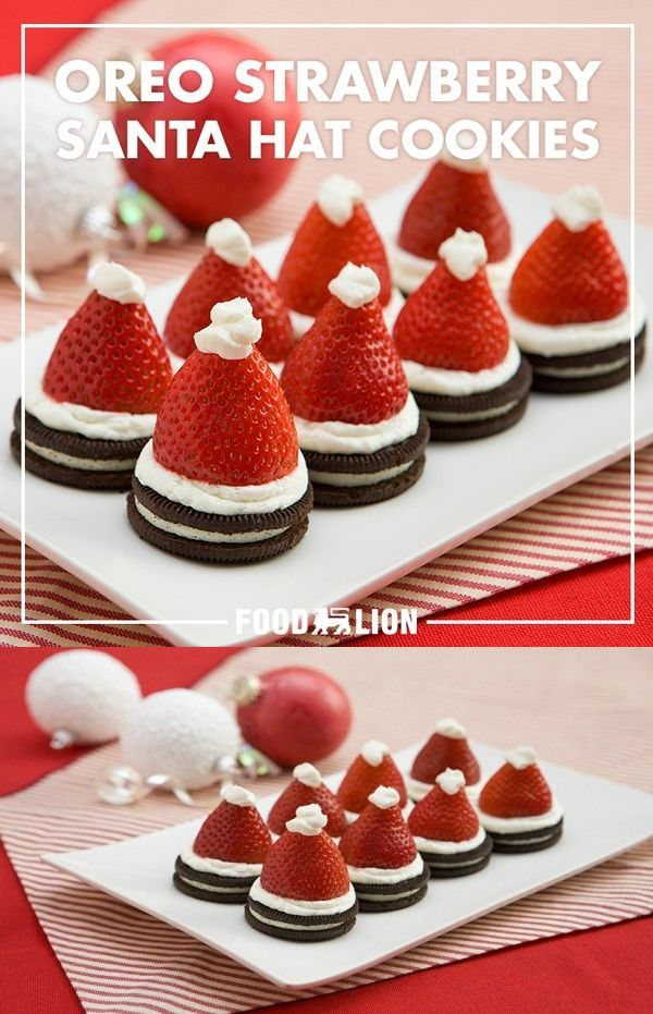 OREO Strawberry Santa Hat Cookies